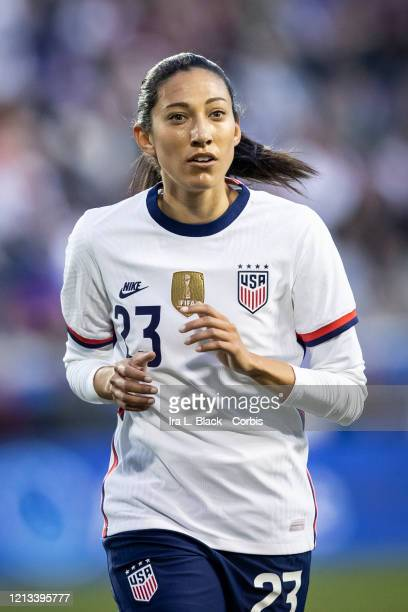 Christen Press of the United States during the 2nd half of the 2020 SheBelieves Cup match between United States and Spain sponsored by Visa The match...