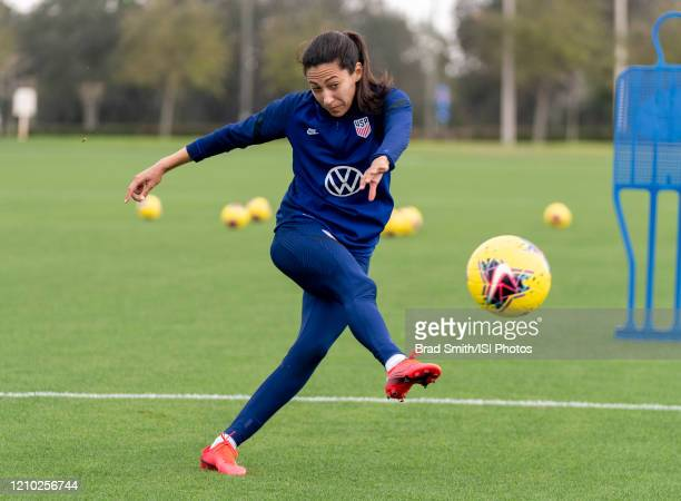 Christen Press of the United States takes a shot at training center on February 26 2020 in Orlando Florida
