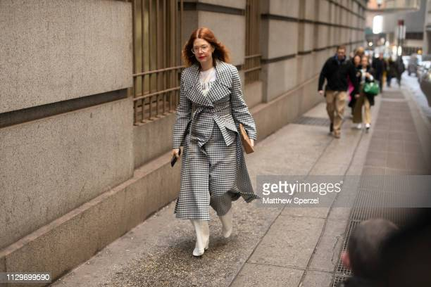 Christene Barbarich is seen on the street during New York Fashion Week AW19 wearing Michael Kors on February 13 2019 in New York City