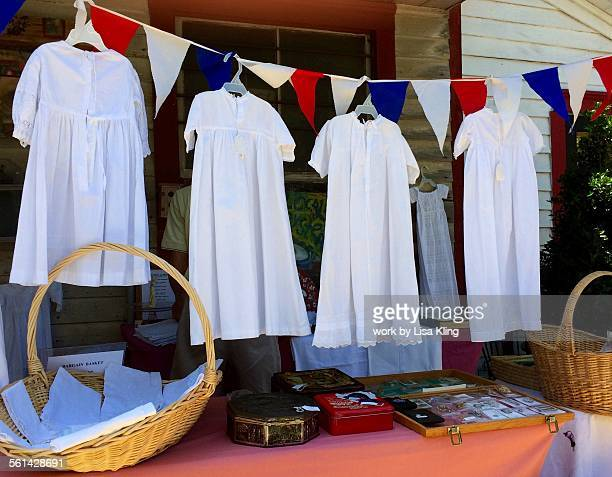 Christening gowns on display