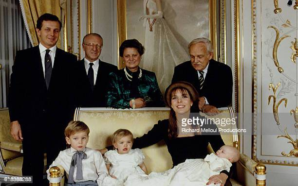 Christening of Pierre Casiraghi son of Caroline of Monaco and Italian sportsman heir socialite and businessman Stefano Casiraghi