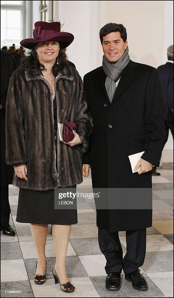 Christening of Prince Christian of Denmark in Copenhagen, Denmark On January 21, 2006- : News Photo