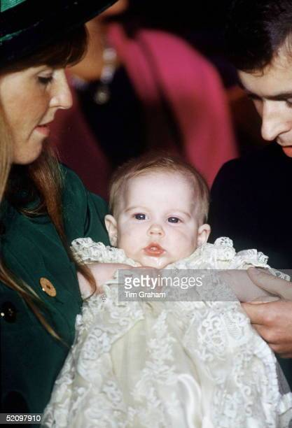 Christening Of Princess Beatrice Of York At The Chapel Royal St James Palace London