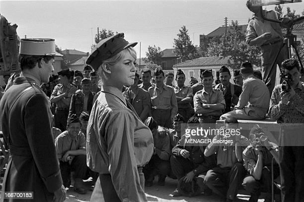 Christening Of The Boat 'Le Babette' 5 juin 1959 Sète tournage du film 'Babette s'en va en guerre' de Christian JAQUE avec Brigitte BARDOT et Jacques...