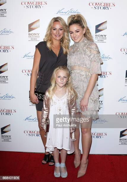 Christi Lukasiak Clara Lukasiak and Chloe Lukasiak attend the premiere of 'A Cowgirl's Story' at Pacific Theatres at The Grove on April 13 2017 in...