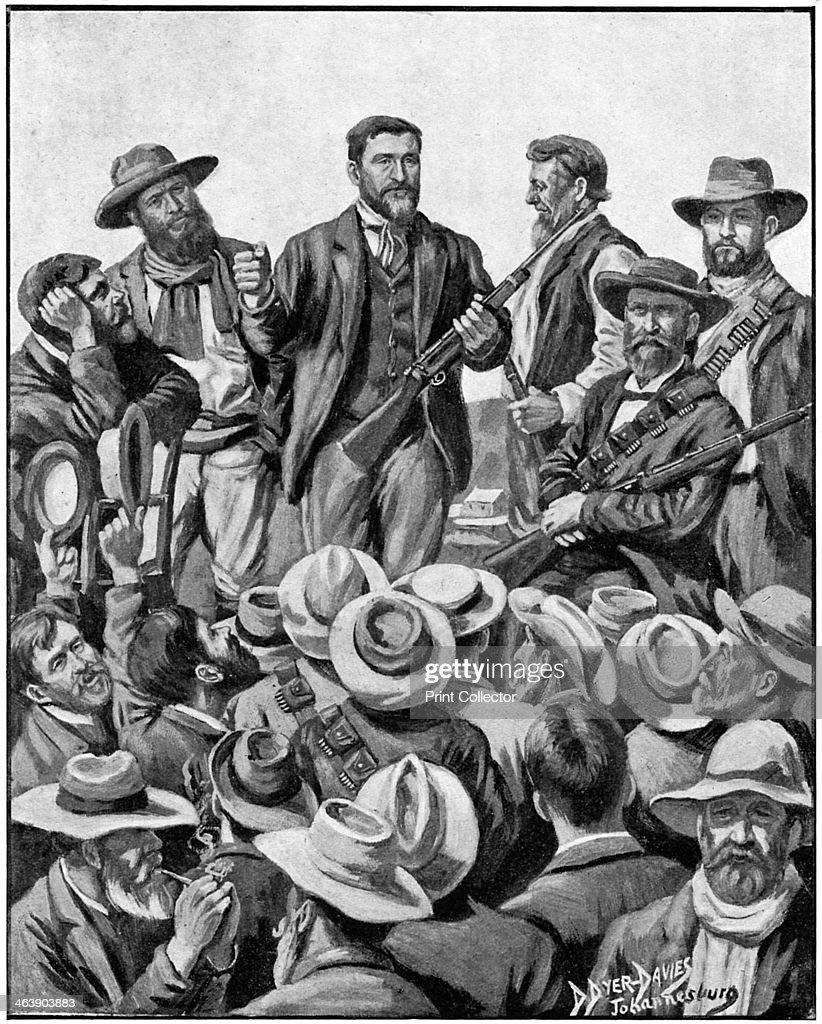 Christiaan De Wet, Afrikaner soldier, politician and big game hunter, c1899. : News Photo