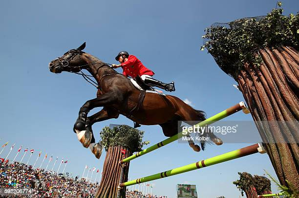 Christian Ahlmann of Germany riding Taloubet Z competes during the Equestrian Jumping Individual Final Round on Day 14 of the Rio 2016 Olympic Games...