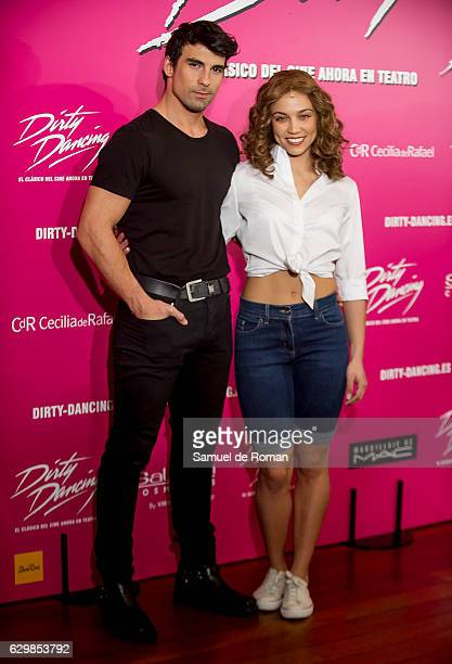 Christian Alvarez and Amanda Digon attends to 'Dirty Dancing' Madrid Premiere on December 14 2016 in Madrid Spain