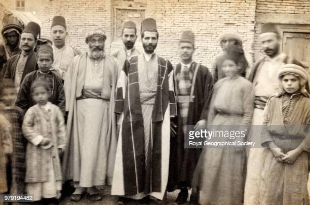 Christian and Jewish merchants at Basra, Iraq, 1891.