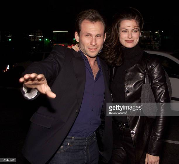Christian and Ryan Slater at the premiere of 'The Family Man' at the Chinese Theater in Los Angeles Ca 12/12/00