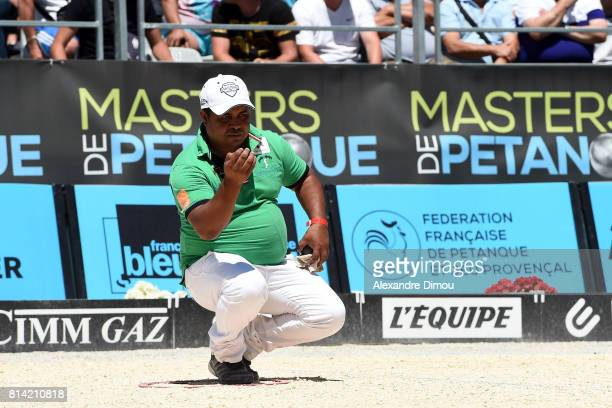 Christian Andrianiaina competes during the Masters of Petanque 2017 on July 13 2017 in RomanssurIsere France