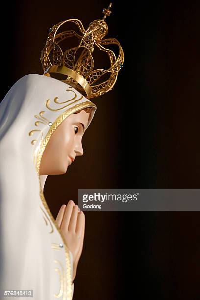 christian art - our lady of fatima stock pictures, royalty-free photos & images