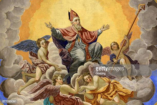 christian art - st. nicholas stock photos and pictures