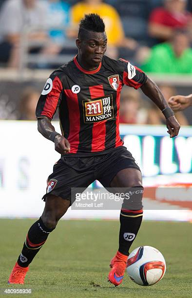 Christian Atsu of AFC Bournemouth controls the ball in the friendly match against the Philadelphia Union on July 14 2015 at the PPL Park in Chester...