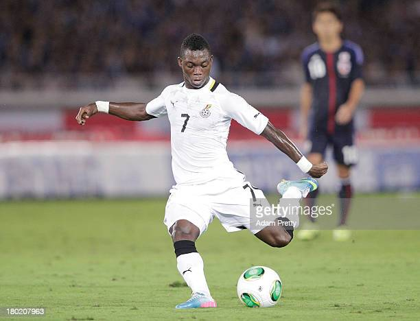 Christian Atsu of Ghana in action during the international friendly match between Japan and Ghana at International Stadium Yokohama on September 10...