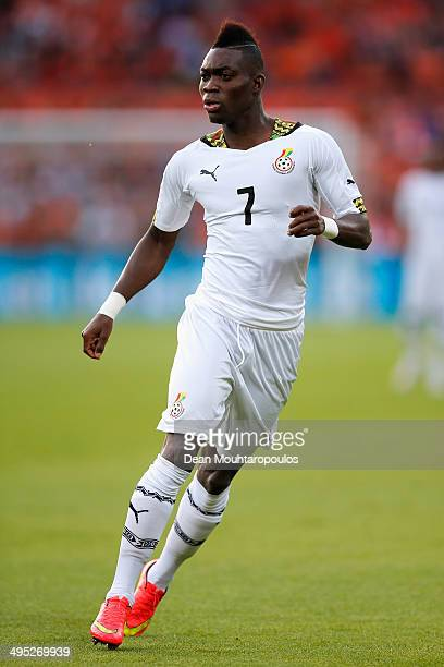 Christian Atsu of Ghana in action during the International Friendly match between Netherlands and Ghana at De Kuip on May 31 2014 in Rotterdam...