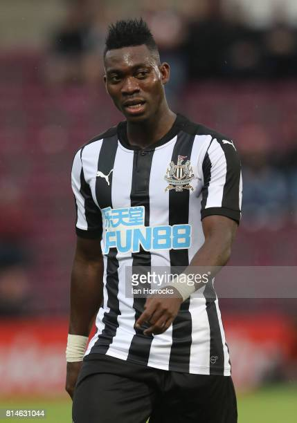 Christian Atsu of Newcastle during a preseason friendly match between Heart of Midlothian and Newcastle United on July 14 2017 in Edinburgh Scotland
