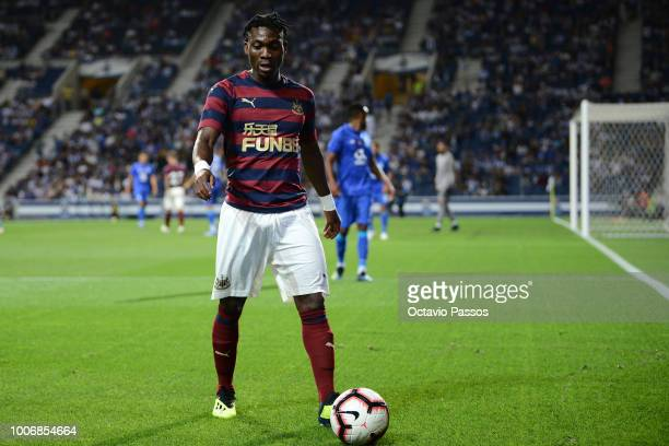 Christian Atsu of Newcastle in action during the preseason friendly match between FC Porto and Newcastle at Estádio do Drago on July 28 2018 in Porto...