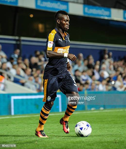 Christian Atsu of Newcastle United controls the ball during the Sky Bet Championship match between Queens Park Rangers and Newcastle United at Loftus...