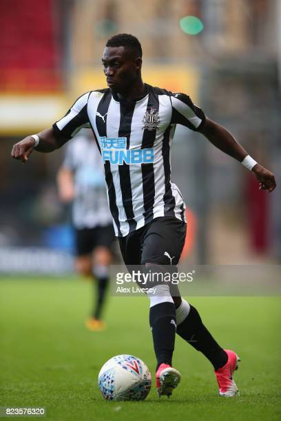 Christian Atsu of Newcastle United during a preseason friendly match between Bradford City and Newcastle United at Northern Commercials Stadium on...