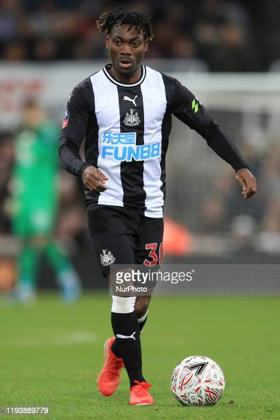 Christian Atsu of Newcastle United during the FA Cup match between Newcastle United and Rochdale at St James's Park Newcastle on Tuesday 14th January...