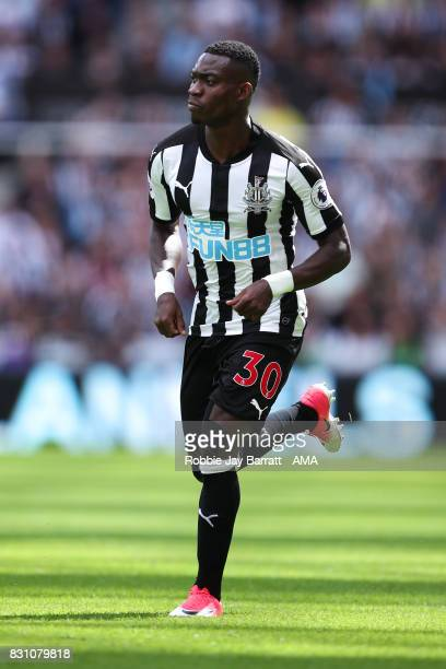 Christian Atsu of Newcastle United during the Premier League match between Newcastle United and Tottenham Hotspur at St James Park on August 13 2017...
