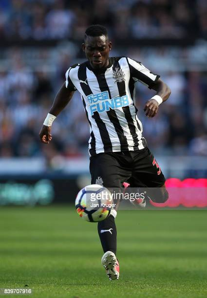 Christian Atsu of Newcastle United during the Premier League match between Newcastle United and West Ham United at St James Park on August 26 2017 in...