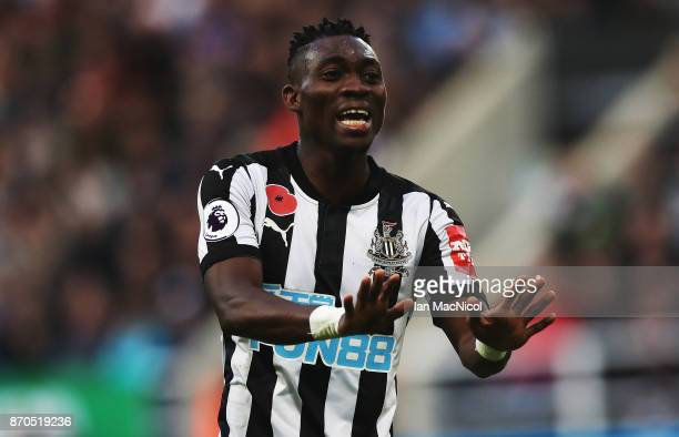 Christian Atsu of Newcastle United is seen during the Premier League match between Newcastle United and AFC Bournemouth at St James Park on November...