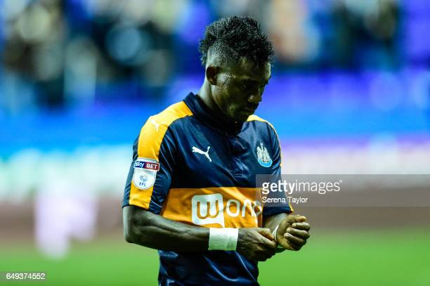 Christian Atsu of Newcastle United walks off the pitch after the Sky Bet Championship Match between Reading and Newcastle United at the Madjeski...