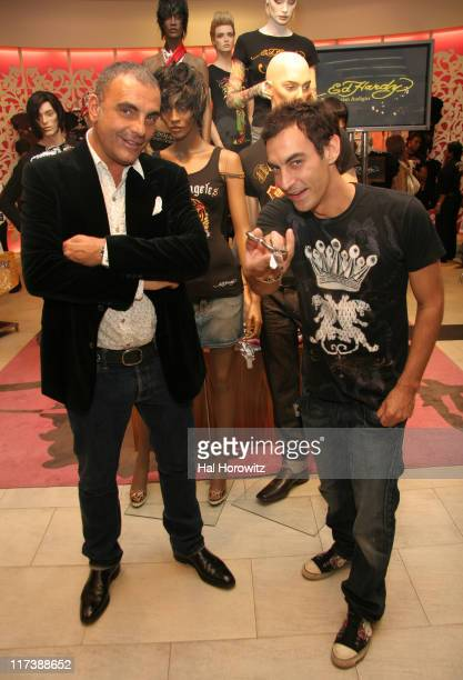 Christian Audigier, designer and Adam Saaks during Ed Hardy In-Store at Macy's - April 26, 2007 at Macy's in New York City, New York, United States.