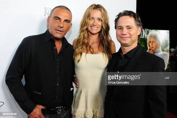 Christian Audigier, Ira Audigier and Jason Binn attend Los Angeles Confidential magazine's annual pre-Emmy party, hosted by Heidi Klum and Niche...
