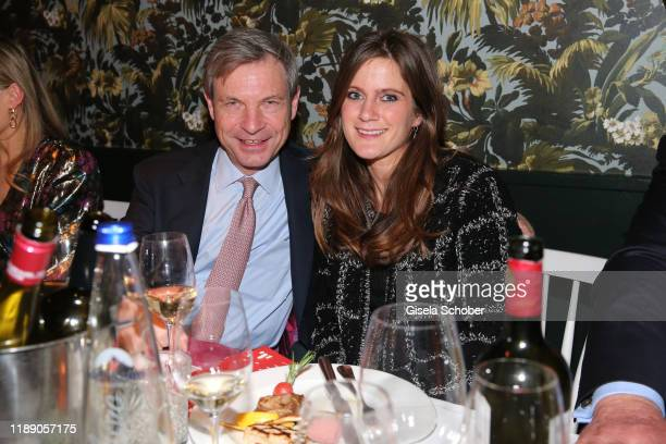 Christian Auer and Susanne Seehofer during the annual christmas roast kid dinner at Reitschule on December 16 2019 in Munich Germany