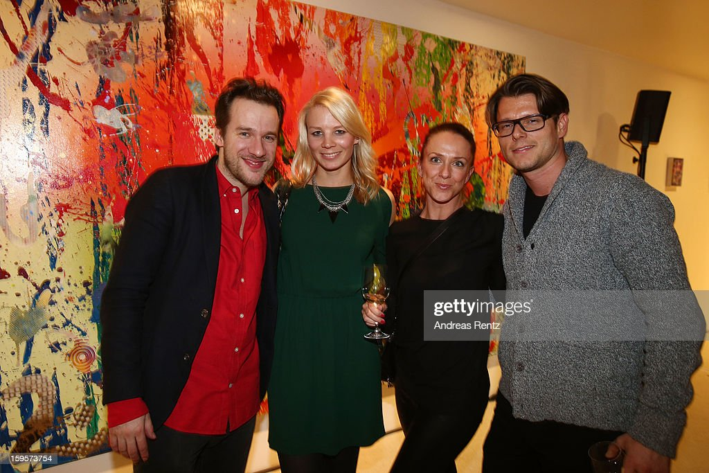 Christian Awe (L) attends Flair Magazine Party at Pariser Platz 4 on January 15, 2013 in Berlin, Germany.