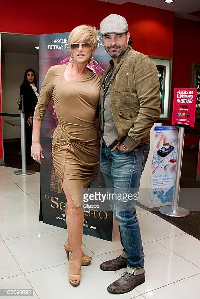 Christian Bach and Mauricio Islas during a press conference to launch the movie El Secreto at Cinemex Universidad on November 23 2010 in Mexico City...