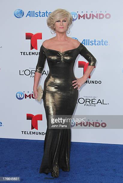 Christian Bach arrives at Telemundo's Premios Tu Mundo Awards at American Airlines Arena on August 15 2013 in Miami Florida