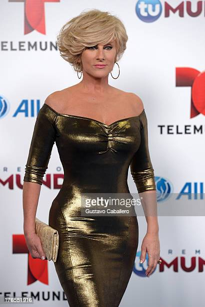 Christian Bach arrives for Telemundo's Premios Tu Mundo Awards at American Airlines Arena on August 15 2013 in Miami Florida