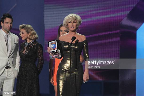 Christian Bach on stage during Telemundo's Premios Tu Mundo Awards at American Airlines Arena on August 15 2013 in Miami Florida
