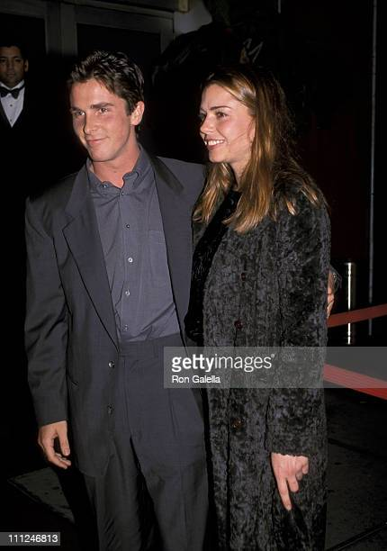 Christian Bale and guest during 1991 New York Stage and Film Benefit Gala at Copacabana in New York City New York United States