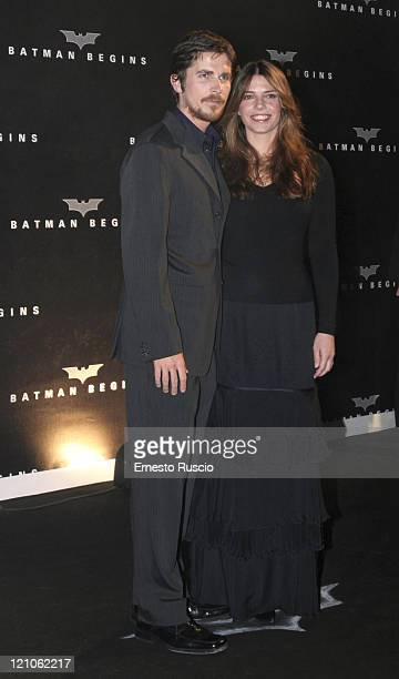Christian Bale and guest during 'Batman Begins' Rome Premiere Arrivals at Warner Village in Rome Italia RM Italy