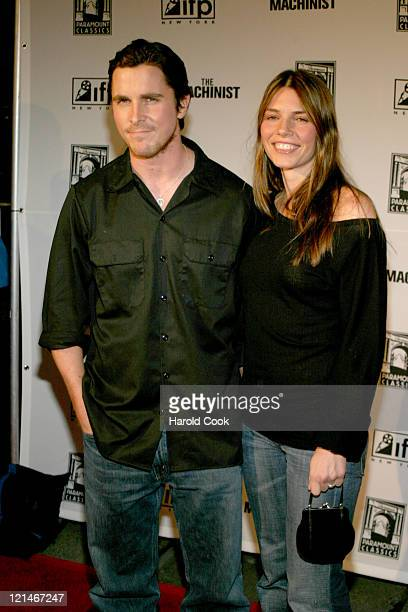 Christian Bale and his wife Sibi Bale during IFP Market Conference with World Premiere of Brad Anderson's 'The Machinist' at Ziegfeld Theater in New...