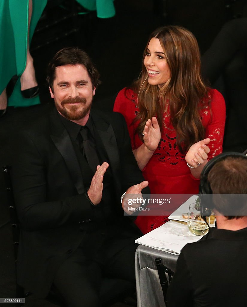 Christian Bale and Sibi Bale attend The 22nd Annual Screen Actors Guild Awards at The Shrine Auditorium on January 30, 2016 in Los Angeles, California