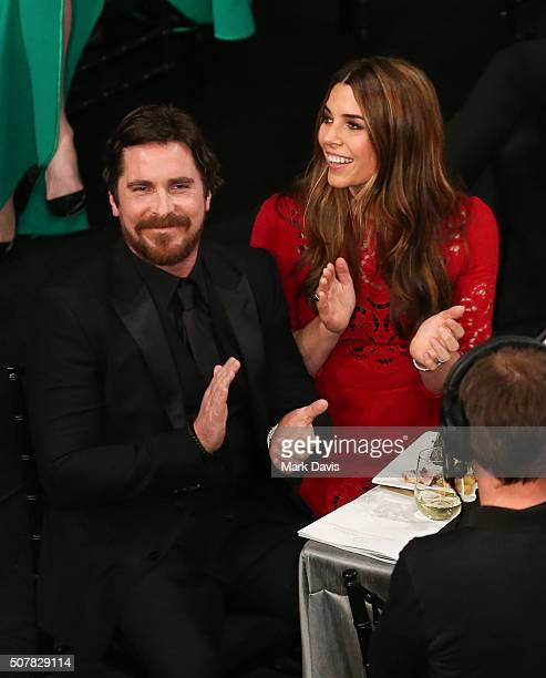 Christian Bale and Sibi Bale attend The 22nd Annual Screen Actors Guild Awards at The Shrine Auditorium on January 30 2016 in Los Angeles California