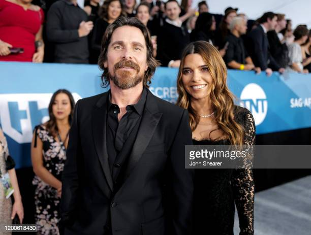 Christian Bale and Sibi Bale attend the 26th Annual Screen Actors Guild Awards at The Shrine Auditorium on January 19, 2020 in Los Angeles,...