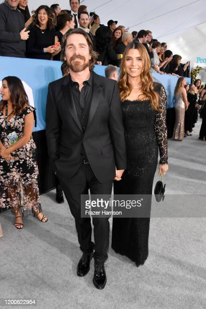 Christian Bale and Sibi Bale attend the 26th Annual Screen ActorsGuild Awards at The Shrine Auditorium on January 19 2020 in Los Angeles California