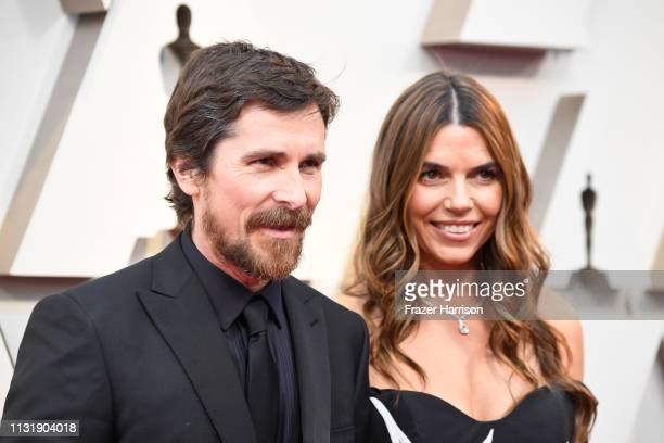 Christian Bale and Sibi Bale attend the 91st Annual Academy Awards at Hollywood and Highland on February 24 2019 in Hollywood California