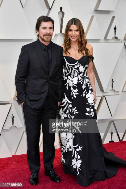 Christian Bale and Sibi Bale attends the 91st Annual Academy Awards at Hollywood and Highland on February 24, 2019 in Hollywood, California.