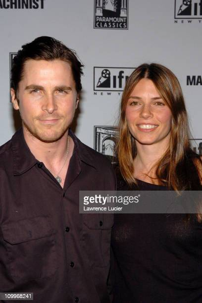 Christian Bale and Sibi Bale during IFP Market Conference with World Premiere of Brad Anderson's The Machinist at Ziegfeld Theater in New York New...