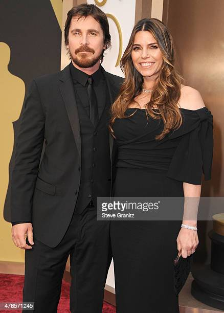 Christian Bale and Sibi Blazic arrives at the 86th Annual Academy Awards at Hollywood Highland Center on March 2 2014 in Hollywood California