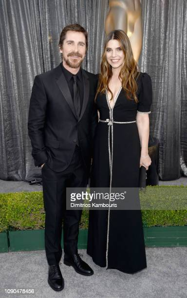 Christian Bale and Sibi Blazic attend the 25th Annual Screen ActorsGuild Awards at The Shrine Auditorium on January 27 2019 in Los Angeles...