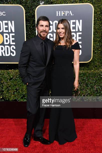Christian Bale and Sibi Blazic attend the 76th Annual Golden Globe Awards at The Beverly Hilton Hotel on January 6 2019 in Beverly Hills California